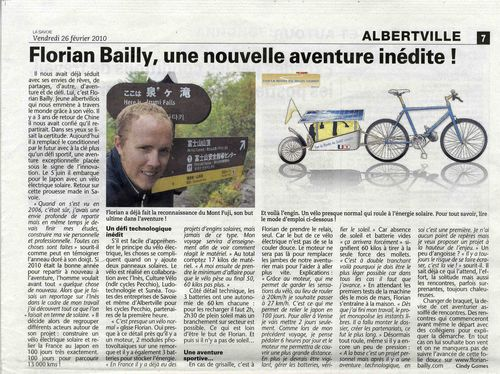 La Savoie 26 fevrier 2010