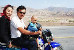 Famille a moto mini